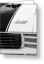 1969 Chevrolet Camaro Rs-ss Indy Pace Car Replica Hood Emblem Greeting Card by Jill Reger