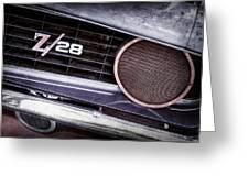 1969 Chevrolet Camaro Z28 Grille Emblem Greeting Card