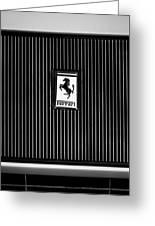 1969 Ferrari 365 Gtb-4 Daytona Emblem Greeting Card