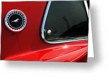 1969 Ford Mustang Mach 1 Greeting Card