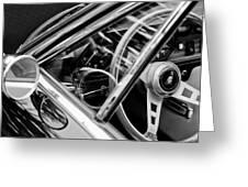 1969 Lamborghini Islero Steering Wheel Emblem Greeting Card