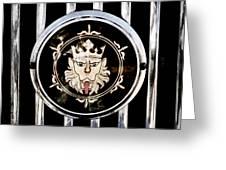1969 Morgan Roadster Grille Emblem Greeting Card