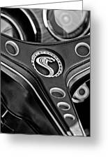 1969 Shelby Gt500 Convertible 428 Cobra Jet Steering Wheel Emblem Greeting Card