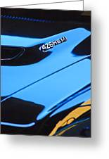 1971 Dodge 426 Hemi Challenger Rt Hood Emblem Greeting Card