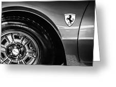 1971 Ferrari Dino Gt Wheel Emblem -027c Greeting Card