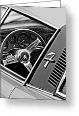 1971 Iso Grifo Can Am Steering Wheel Emblem Greeting Card