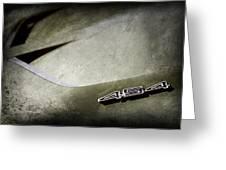 1972 Chevrolet Corvette Convertible Stingray 454 Hood Emblem Greeting Card