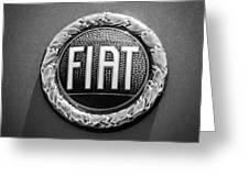 1972 Fiat Dino Spider Emblem Greeting Card