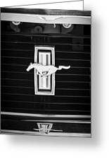 1972 Ford Mustang Boss 302 Grille Emblem Greeting Card