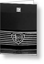 1972 Lancia Fulvia 1.3s S2 Grille Emblem Greeting Card