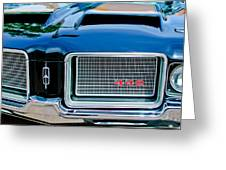 1972 Oldsmobile 442 Grille Emblem Greeting Card