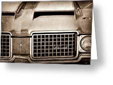 1972 Oldsmobile Grille Emblem Greeting Card