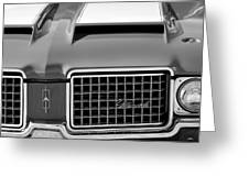 1972 Oldsmobile Grille Greeting Card