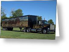 Smokey And The Bandit Tribute 1973 Kenworth W900 Black And Gold Semi Truck Greeting Card
