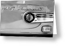 1975 Lancia Fulvia 1.3s Gt Berlina Taillight Emblem Greeting Card