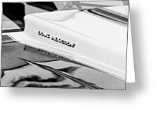 1980 Chevrolet Malibu Ss Cowl Induction Hood Emblem Greeting Card