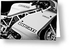 1993 Ducati 900 Superlight Motorcycle Greeting Card
