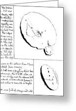 19th Century Drawings Of Moon Craters Greeting Card