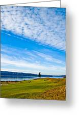 #2 At Chambers Bay Golf Course - Location Of The 2015 U.s. Open Tournament Greeting Card