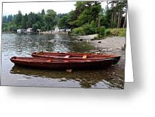 2 Little Boats Greeting Card