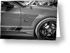 2006 Ford Saleen Mustang Bw Greeting Card