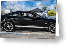 2007 Ford Mustang Shelby Gt Painted Greeting Card