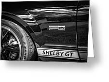 2007 Ford Mustang Shelby Gt500 Painted Bw  Greeting Card