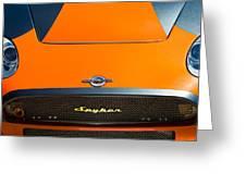 2009 Spyker C8 Laviolette Lm85 Grille Emblem Greeting Card