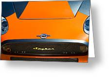 2009 Spyker C8 Laviolette Lm85 Grille Emblem Greeting Card by Jill Reger