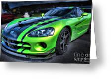 2010 Dodge Viper Acr Greeting Card