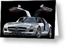 2010 Mercedes Benz Sls Gull-wing Greeting Card