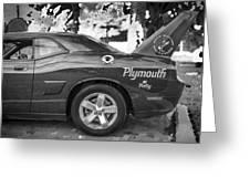 2010 Plymouth Superbird Bw  Greeting Card