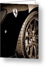 2011 Ferrari 599 Gto Emblem - Wheel Greeting Card