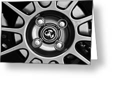 2013 Fiat Abarth Wheel Emblem Greeting Card