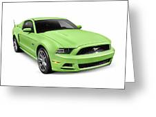2013 Ford Mustang Gt 5.0 Sports Car Greeting Card