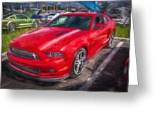 2013 Ford Mustang Gt Cs Painted  Greeting Card