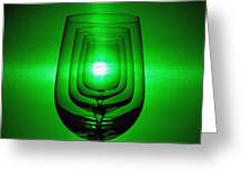4 Wine Glasses Greeting Card