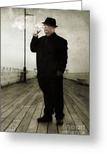 50s Detective Smoking Pipe Greeting Card