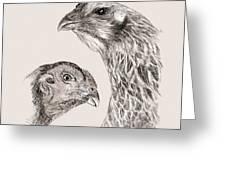 51. Game Hens Greeting Card