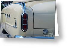 52 Packard Convertible Tail Greeting Card