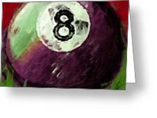 8 Ball Billiards Abstract Greeting Card