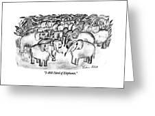 1-800 Herd Of Elephants Greeting Card