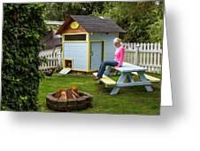 A Backyard Chicken Coop In Bellingham Greeting Card