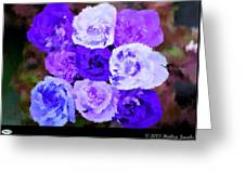 A Bouquet For You Blue Greeting Card