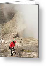A Climber Descending Longs Peak Greeting Card