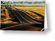 A Country Road In The Central Valley Greeting Card