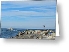 A Day At The Beach 2 Greeting Card