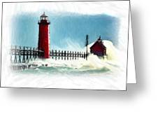 A Day At The Coast Greeting Card