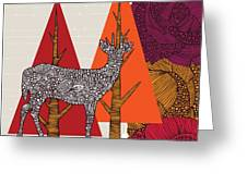 A Deer In Woodland Greeting Card