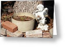 A Garden Angel Greeting Card